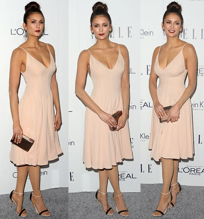Nina Dobrev at the 22nd Annual Elle Women in Hollywood Awards held at the Four Seasons Hotel Los Angeles at Beverly Hills on October 19, 2015