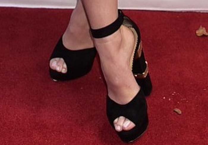 Olivia Wilde in Eugenie sandals from Charlotte Olympia