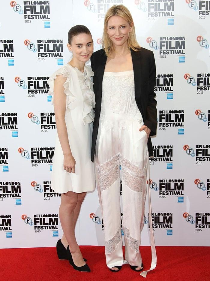 Rooney-Mara-Cate-Blanchett-BFI-London-Film-Festival-Carol-Photocall