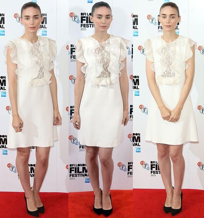 Rooney-Mara-Giambattista-Valli-Silk-Ruffled-Dress