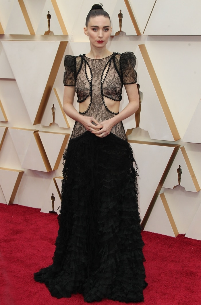 Rooney Mara arrives at the 92nd Annual Academy Awards