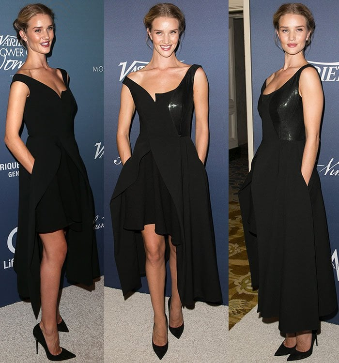 Rosie-Huntington-Whiteley-Stella-McCartney-black-cut-away-dress-1