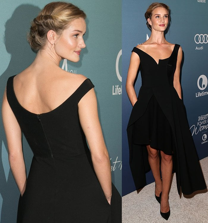 Rosie-Huntington-Whiteley-Stella-McCartney-black-cut-away-dress