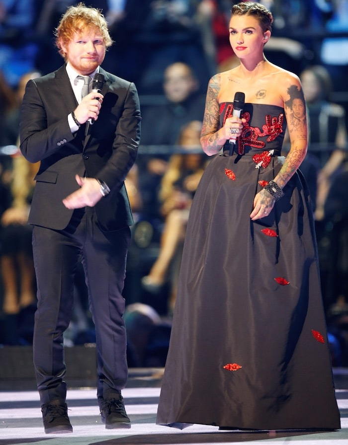 Ruby Rose Ed Sheeran EMA