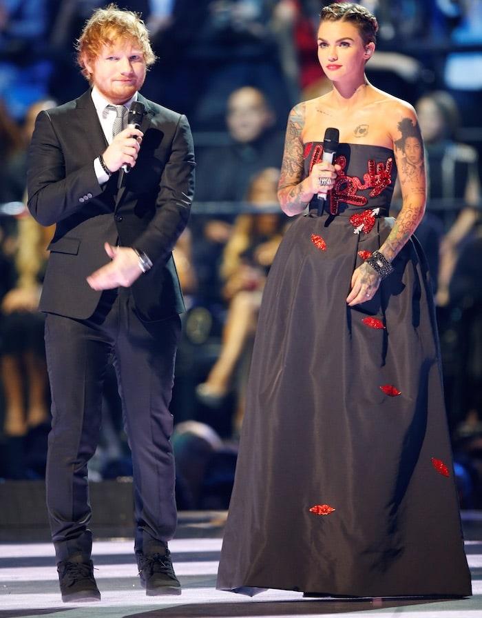 Ruby Rose Ed Sheeran EMA