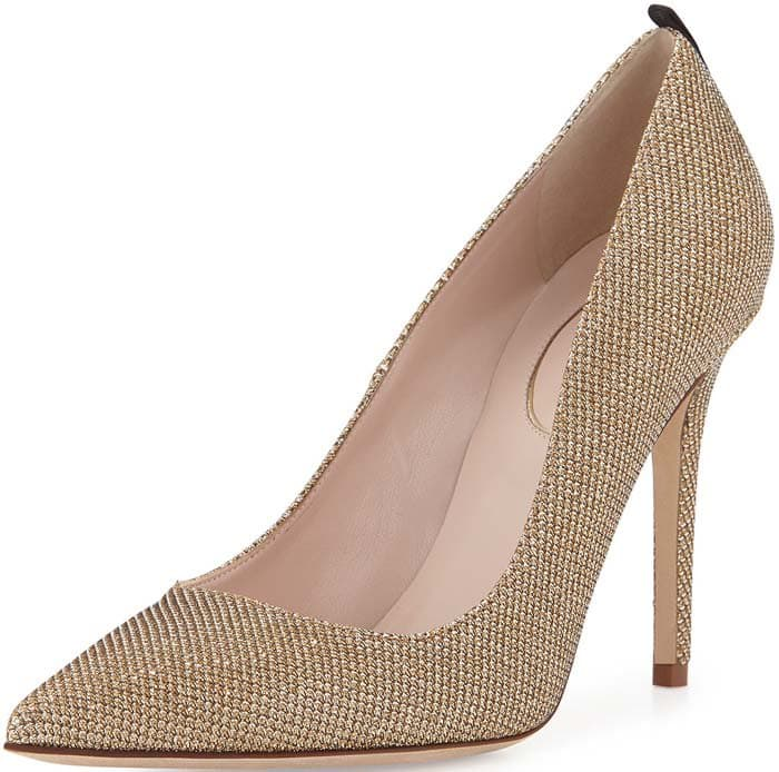 "SJP by Sarah Jessica Parker ""Fawn"" Sparkle Fabric Pump in Bronze"