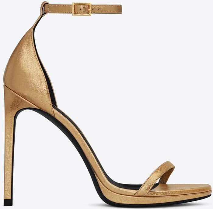 Saint Laurent Classic Jane Sandals in Gold