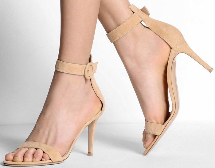 Suede Gianvito Rossi Ankle-Strap Sandals
