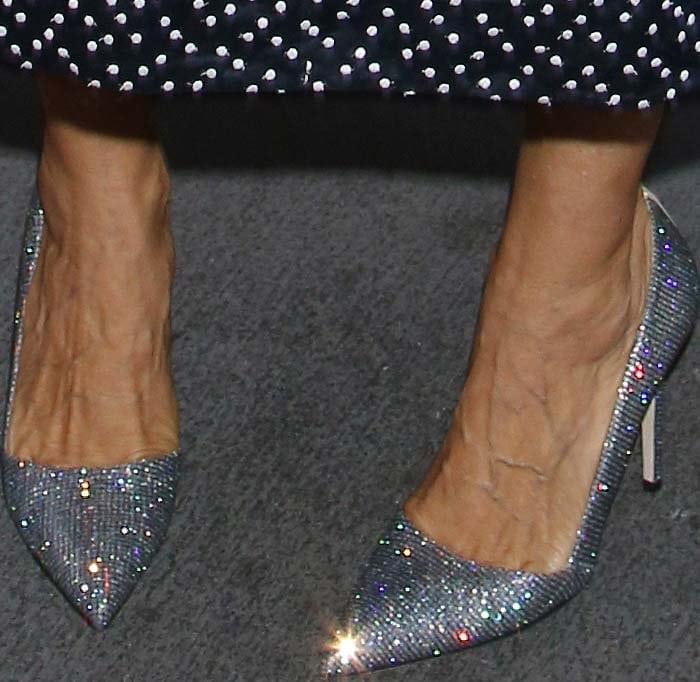 "Sarah Jessica Parker's feet in ""Rampling"" heels"