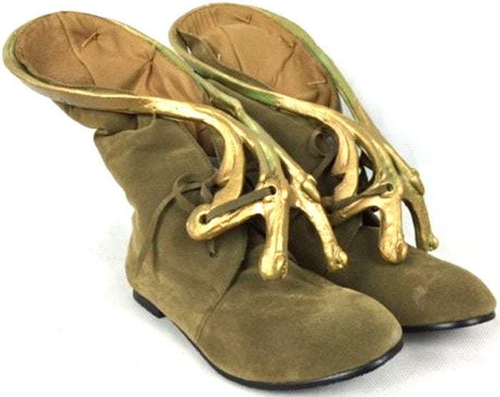Slave Leia Jabba Boots Footwear Jerba Skin Shoes Princess Star Wars