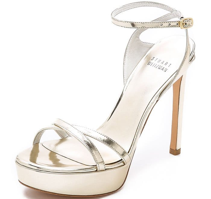 Stuart Weitzman Bebare Sandals Pale Gold