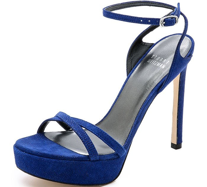 Stuart Weitzman Bebare Sandals Blue Suede