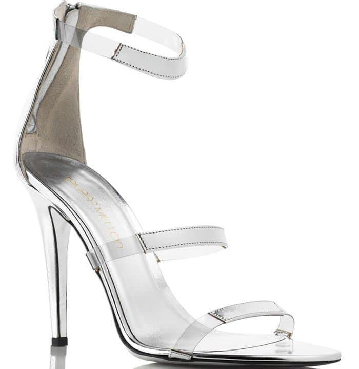 Tamara Mellon Frontline Sandals Silver