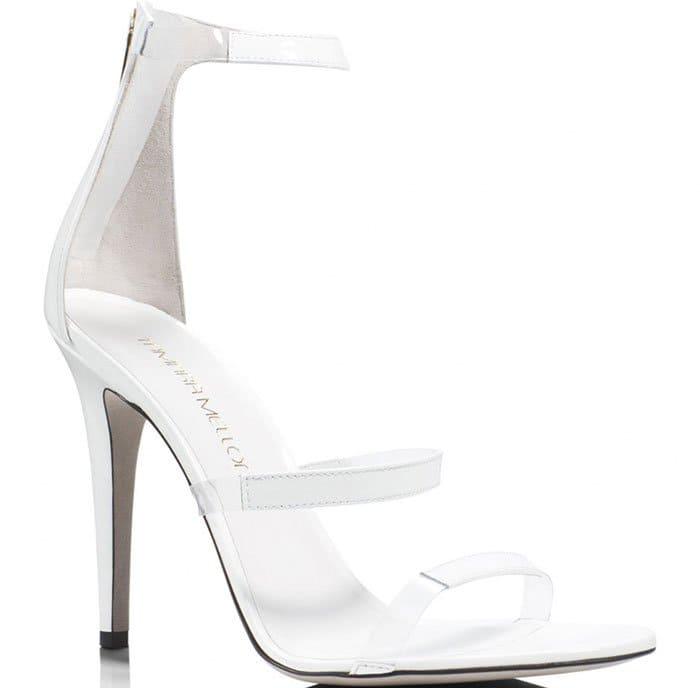 Tamara Mellon Frontline Sandals White