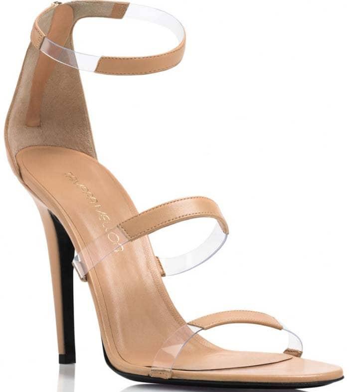 Frontline Stiletto Sandals in Nude Nappa