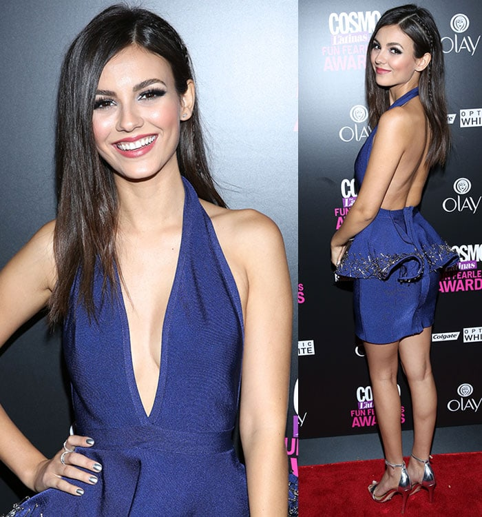 Victoria-Justice-cleavage-back-Cheng-Huai-Chuang-Blue-Dress