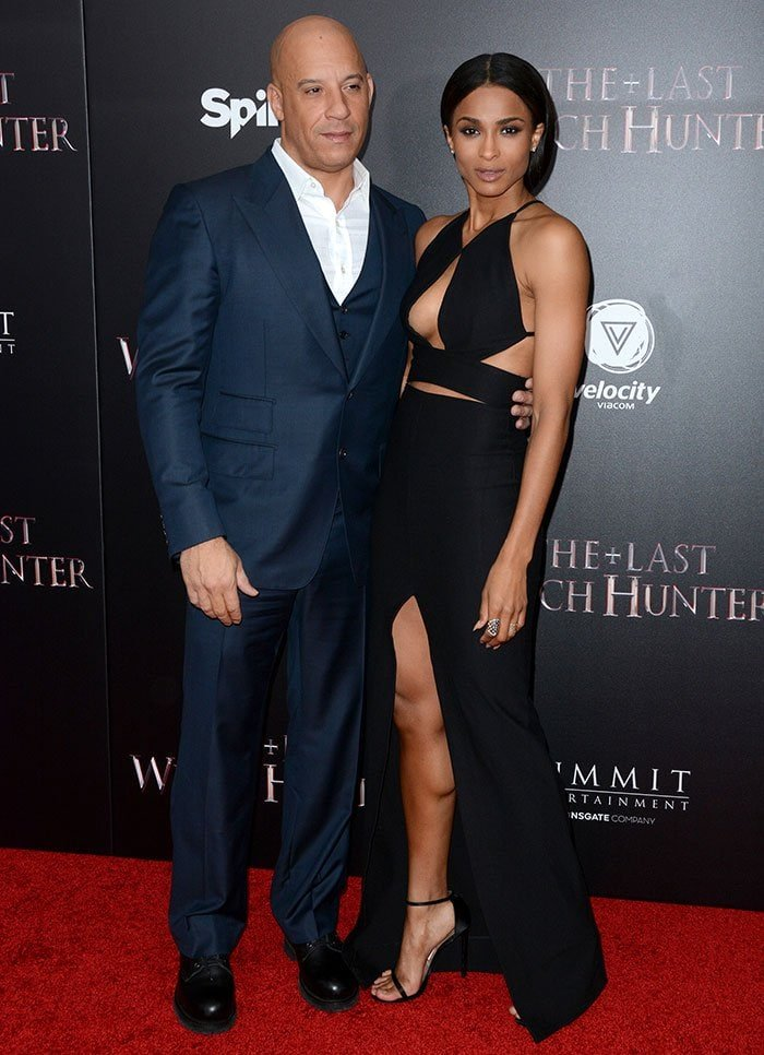"""Vin Diesel and Ciara pose on the red carpet at the premiere of """"The Last Witch Hunter"""""""