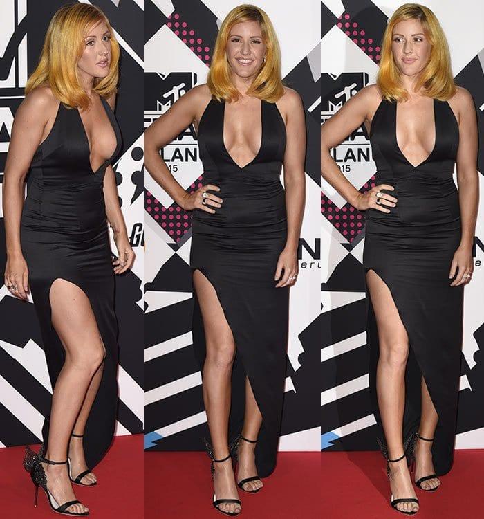Ellie Goulding at the 2015 MTV EMAs (European Music Awards) held at the Mediolanum Forum in Milan, Italy, on October 25, 2015