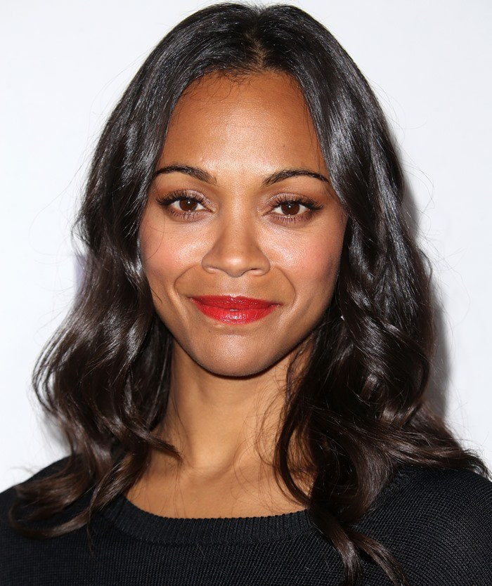 Zoe Saldana attends the 2015 Elle Women in Hollywood Awards