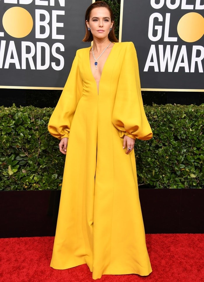 Zoey Deutch attends the 77th Annual Golden Globe Awards