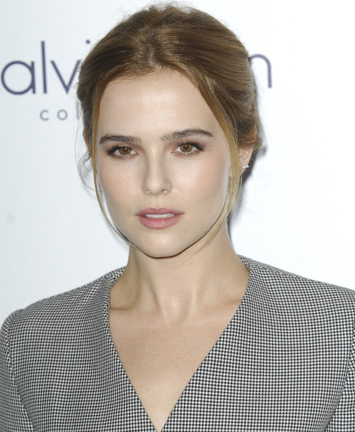 Zoey Deutch styles her hair back for the Elle Women in Hollywood Awards