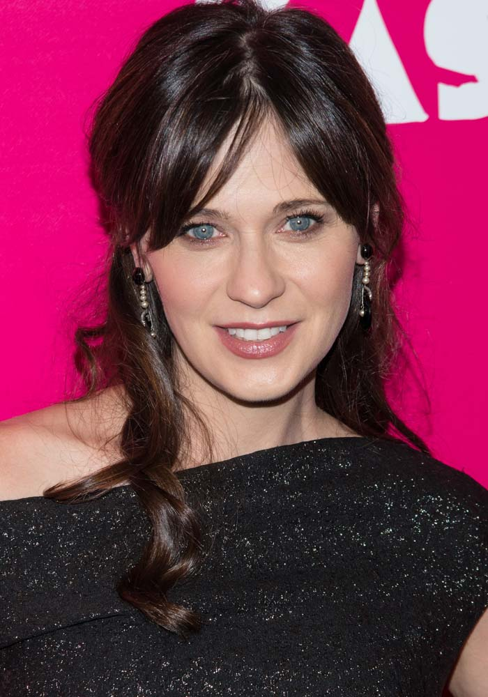 """Zooey Deschanel attends the premiere of """"Rock the Kasbah"""" held October 19, 2015, at the AMC Lincoln Square, New York"""