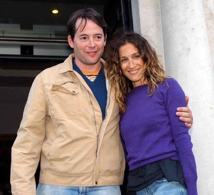 Actor Matthew Broderick and wife actress Sarah Jessica Parker leave The Merrion Hotel