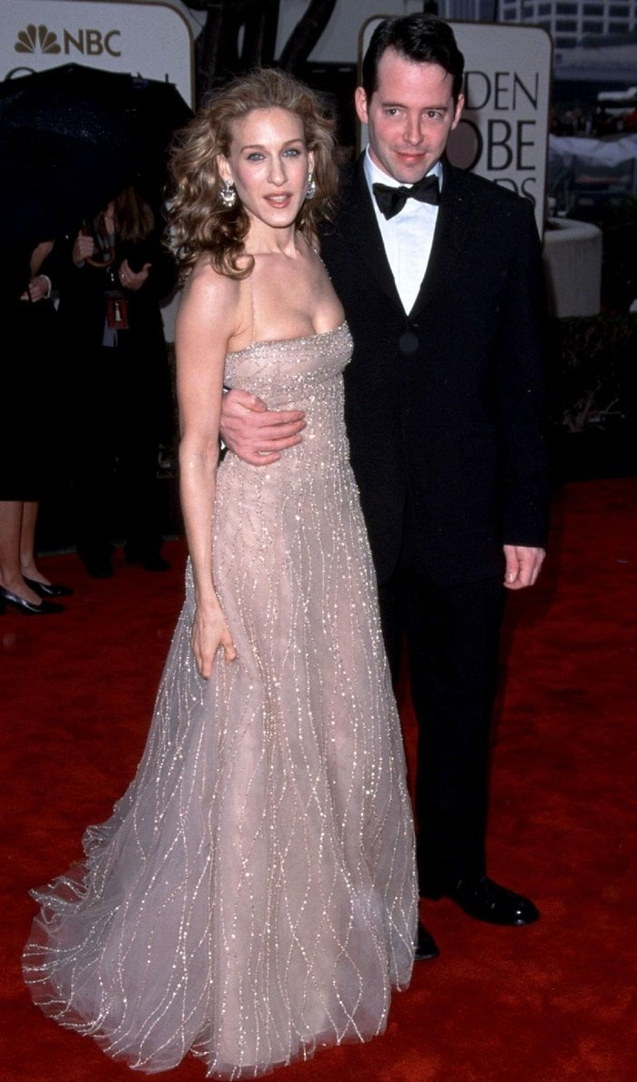 Actress Sarah Jessica Parker and actor Matthew Broderick attend the 57th Annual Golden Globe Awards