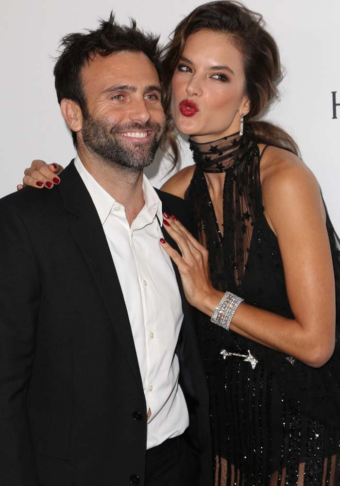 Jamie Mazur and Alessandra Ambrosio pose together on the red carpet