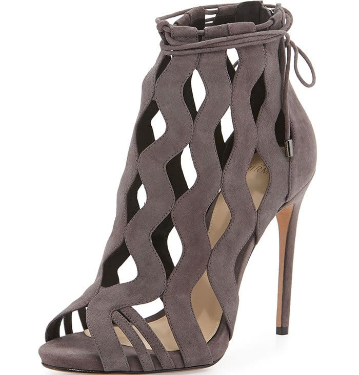Alexandre-Birman-Loretta-Wave-Caged-Laced-Ankle-Booties-Gray