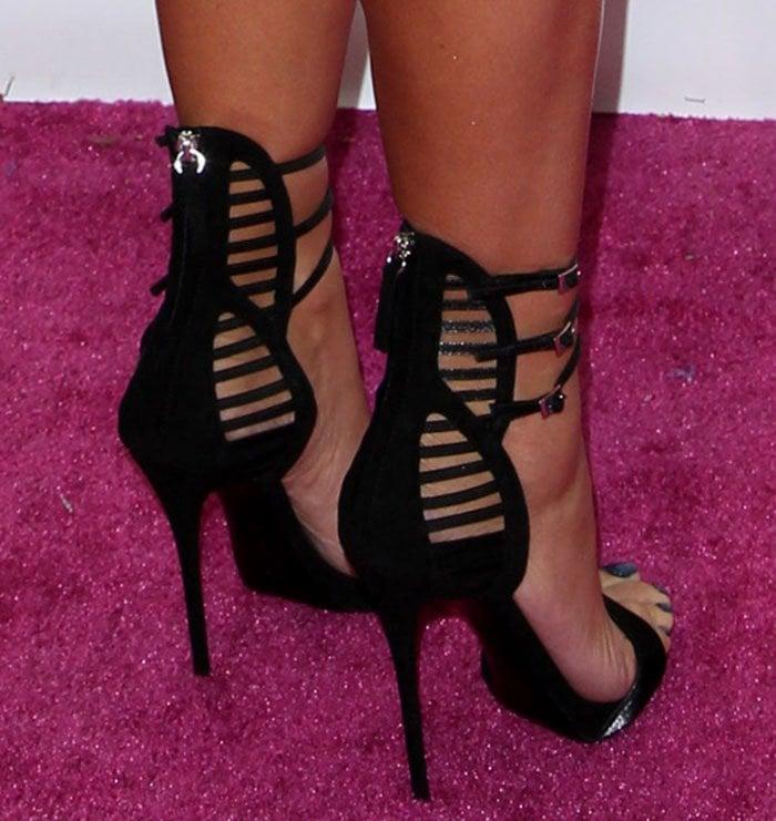 Amber Rose in Giuseppe Zanotti sandals