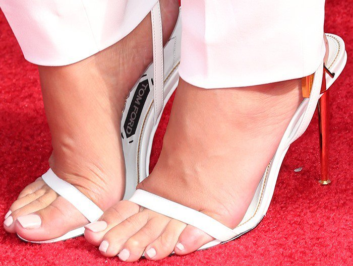 Amber Rose did her best to destroy the red carpet with a pair of Tom Ford sandals