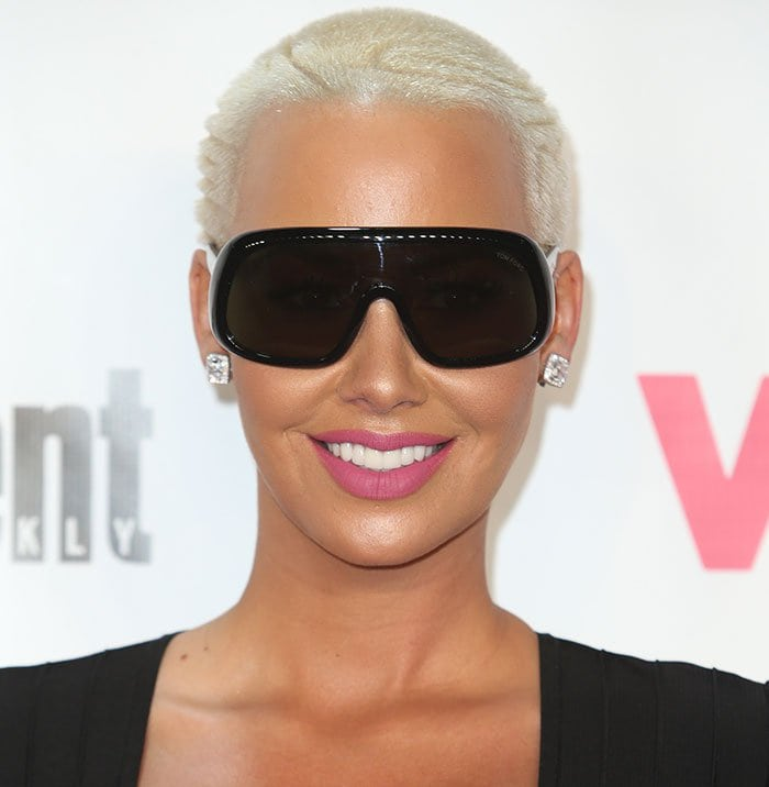 Amber Rose hit the red carpet at the Pacific Design Center in West Hollywood on November 15 for the VH1 Big in 2015 and the Entertainment Weekly Awards