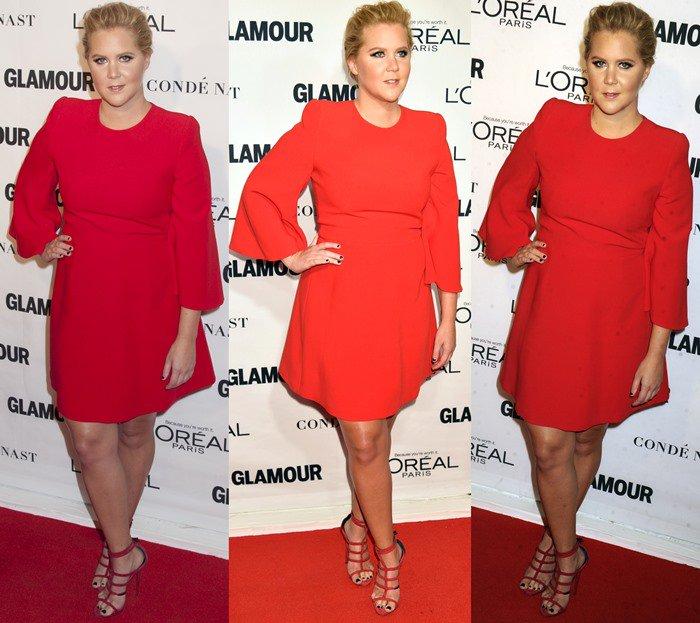 Amy Schumer wears an Alexander McQueen dress on the red carpet