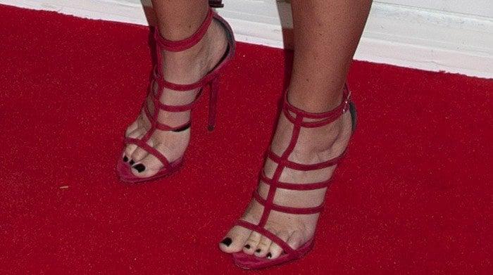 Amy Schumer's feet in Giuseppe Zanotti sandals