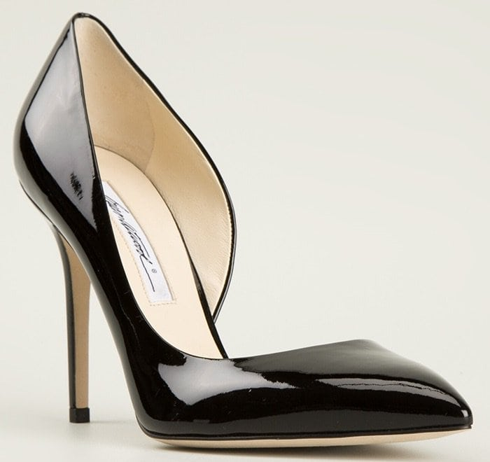 Brian Atwood Patty Patent D'Orsay Pumps