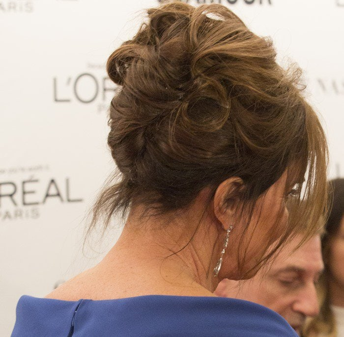 Caitlyn Jenner wears her hair up at the Glamour 2015 Women Of The Year Awards