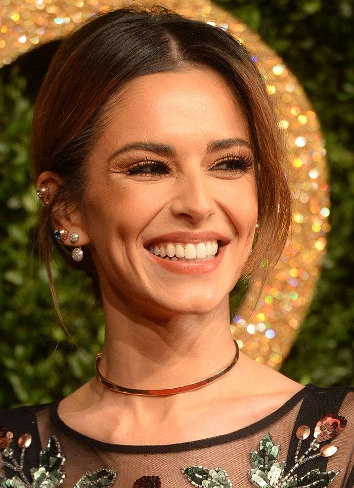 Cheryl Fernandez-Versini's gold choker necklace