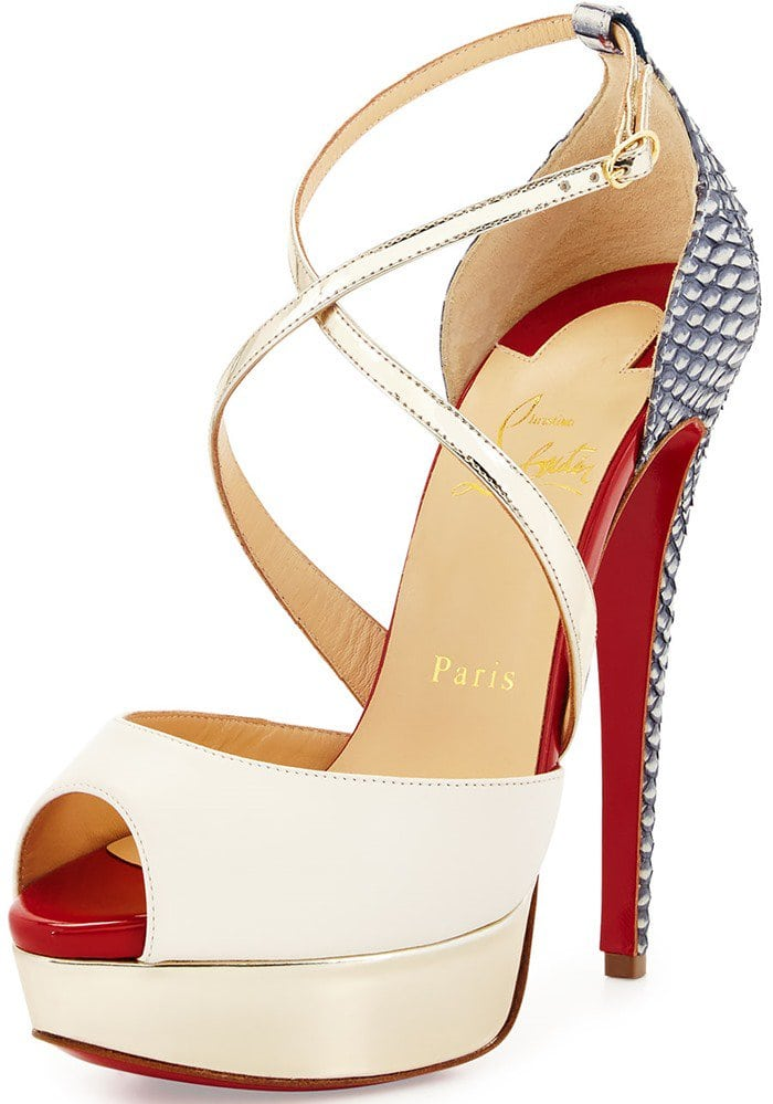 Christian Louboutin Cross Me Platform Sandals