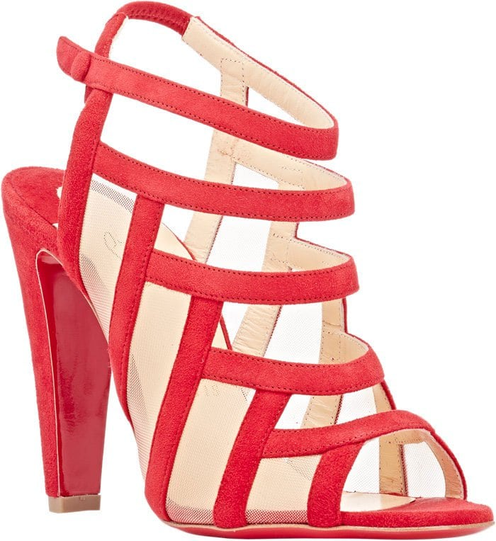 Christian-Louboutin-Nicobar-Caged-Sandals-Red-Suede