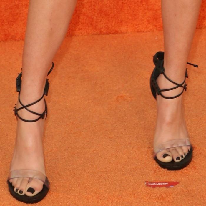 Ciara Riley Wilson shows off her feet in Ruthie Davis heels