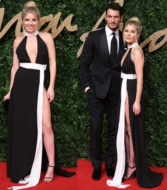 Mollie King was joined on the red carpet by her boyfriend David Gandy, a British male fashion model