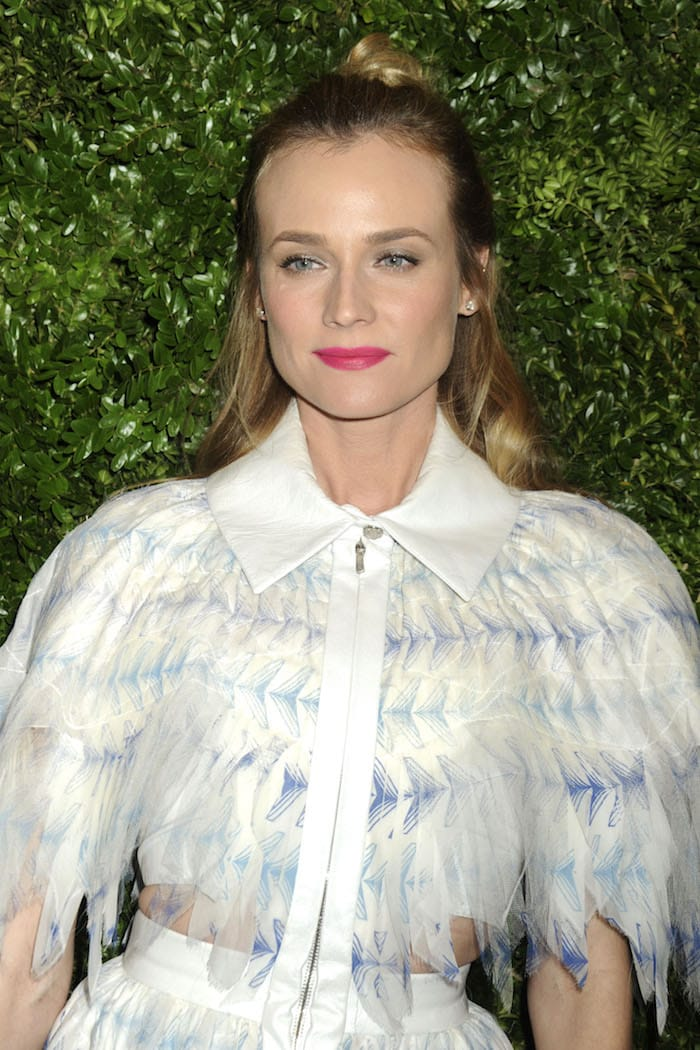 Diane Kruger wears her hair half-up and half-down at the MoMA 8th Annual Film Benefit