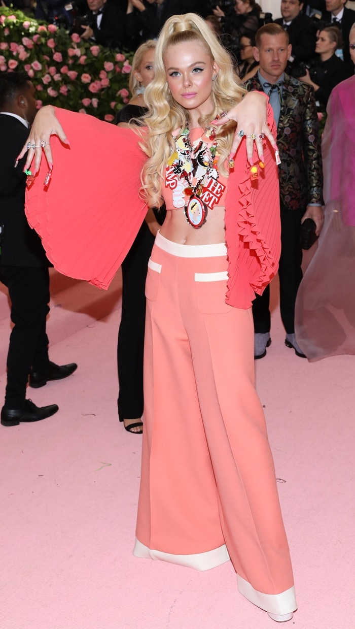 Elle Fanning's I Dream of Jeannie-inspired look at the 2019 Met Gala