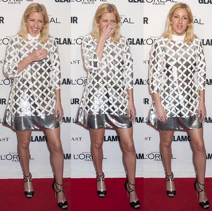 Ellie-Goulding-Emanuel-Ungaro-sparkling-mini-dress