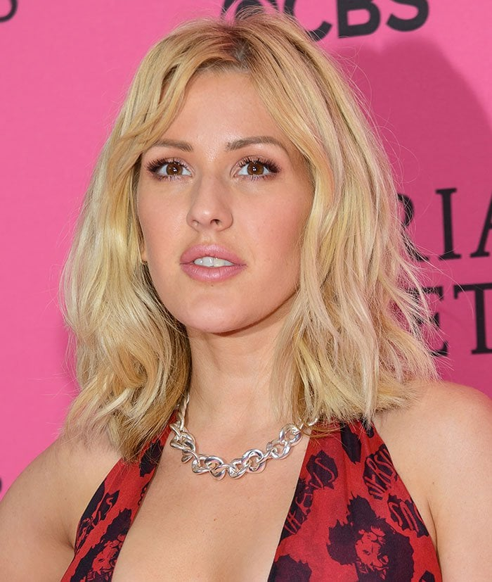 Ellie Goulding wears her blonde hair down at the 2015 Victoria's Secret Fashion Show