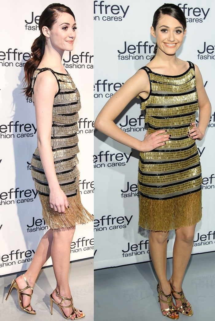 Emmy Rossum at Jeffrey Fashion Cares 10th Anniversary Celebration at The Intrepid on April 2, 2013