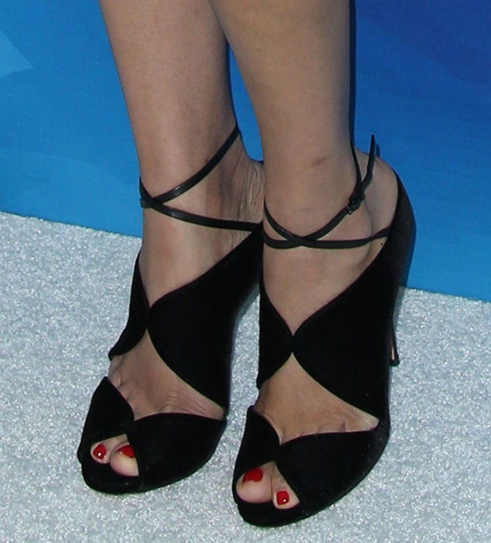 Freida Pinto shows off her toes in Casadei sandals