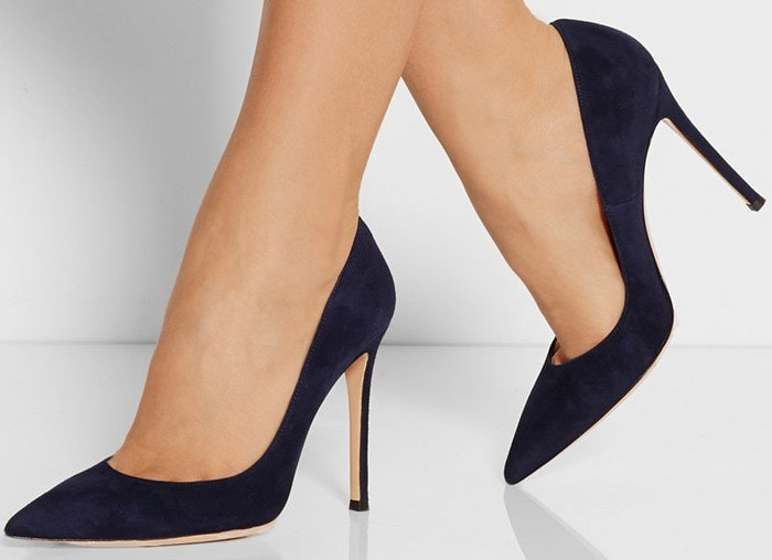 Gianvito Rossi 100 suede pumps midnight blue
