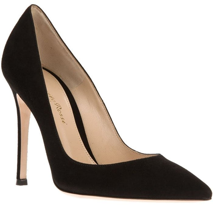 Gianvito Rossi suede pointed toe pumps